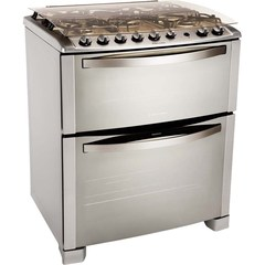 Cocina Multigas Electrolux 76DTX 5 Hornallas 76,2 cm inoxidable