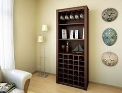 Biblioteca con bodega Reproex / Promuebles R-15113009 negra 3 estantes