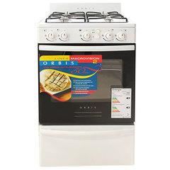 Cocina a gas multigas Orbis Plana 558BC2M 4 H 50 cm Blanca