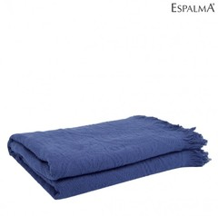 Cubrecama Espalma Vitta Queen Azul 2 Plazas