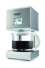 Cafetera de filtro Peabody PE-CM2079S de 12 tazas Plata