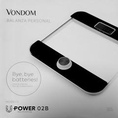 Balanza peso Vondom Upower02B Negro