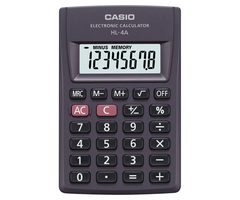 Calculadora Casio HL-4A 8dig Negro